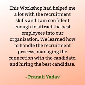 Recruitment - testimonial
