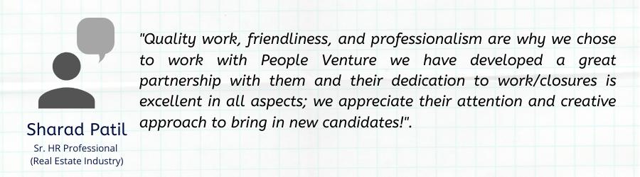 job consultancy client testimonial