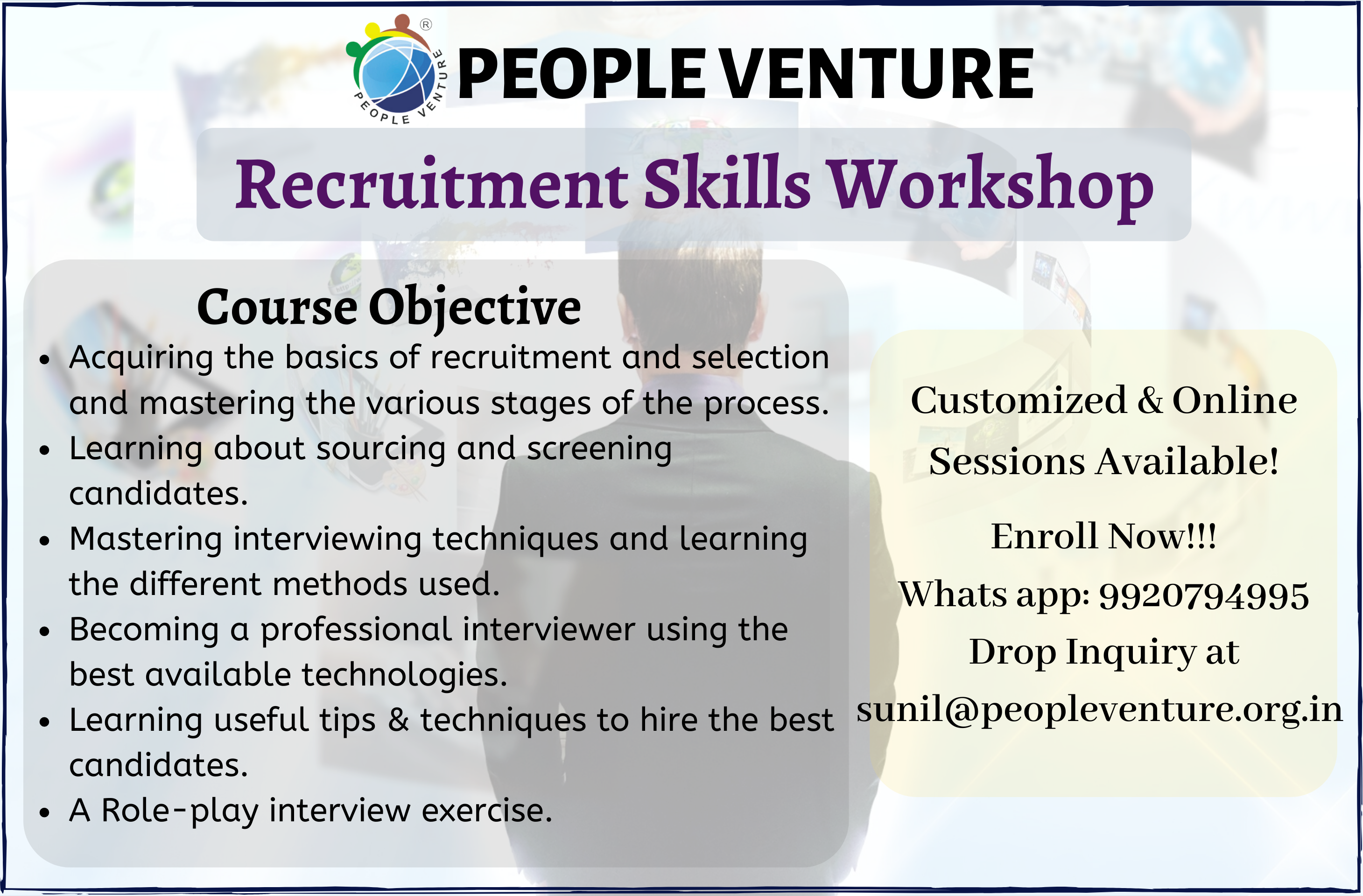 Recruitment skills workshop in thane, mumbai and navi mumbai