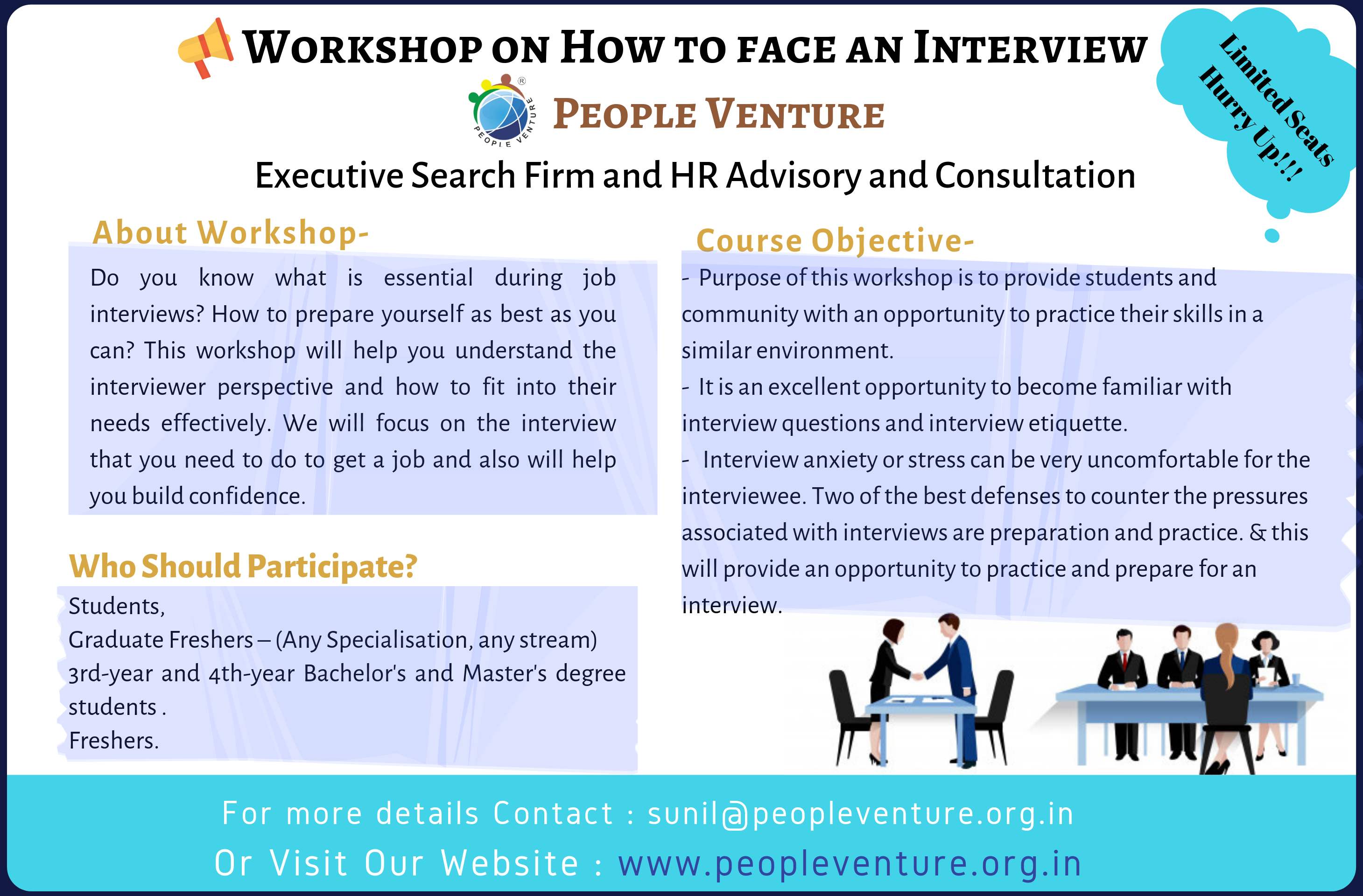 Workshop on How to face an interview