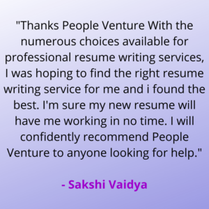 people venture resume writing service
